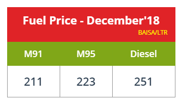 Oman petrol Fuel Prices December 2018 2019 - Amazing Oman